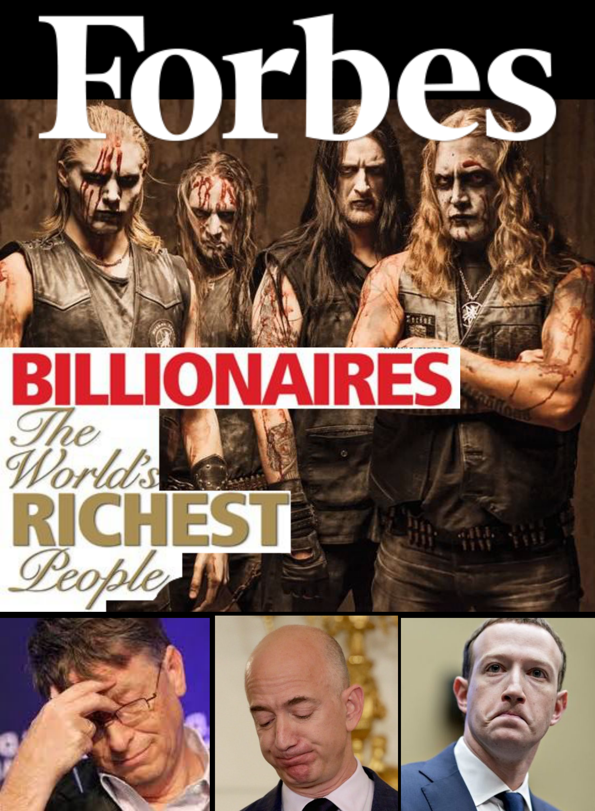 Metalowy zespół zarobił miliony! Najbogatsi ludzie świata zdruzgotani